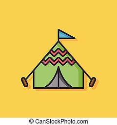 camping tent vector icon