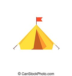 Camping tent vector isolated on white background