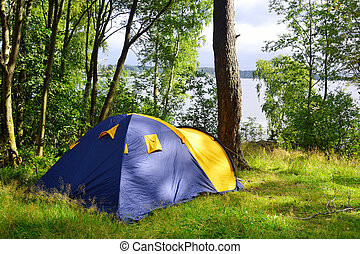 Camping tent.