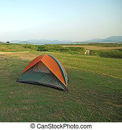 camping tents at a camp site