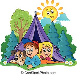 Camping theme image 2