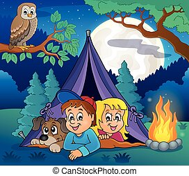 Camping theme image illustration.