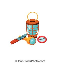 Camping Tools. Vector Illustration
