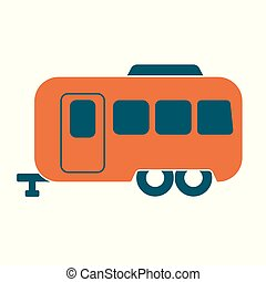 Camping trailer icon