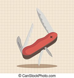 camping utility knives theme elements