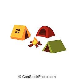Camping. Vector Illustration