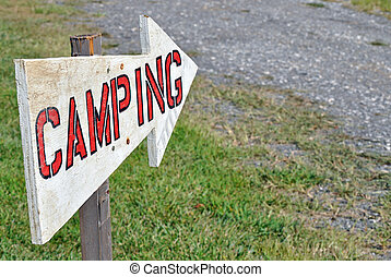 camping, zeichen