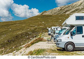 campingbus, motorhomes, camping