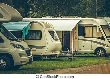 campingbus, park, camping
