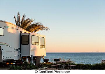 campingbus, park