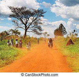 campo, africano