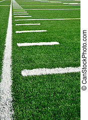 campo, americano, linea laterale, football
