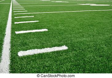 campo, americano, sideline, futebol