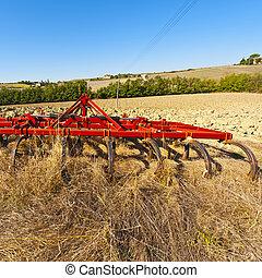 campo, arado, harrow
