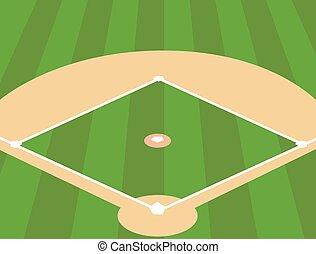 campo, baseball, fondo