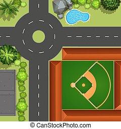 campo, baseball