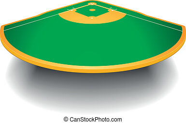 campo, baseball, prospettiva