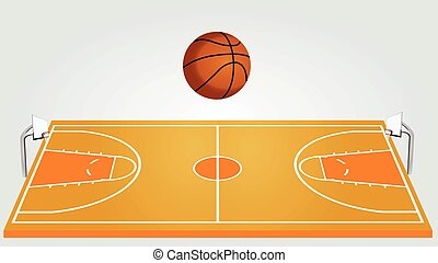 campo, basquetebol