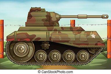campo batalha, tanque, armoured