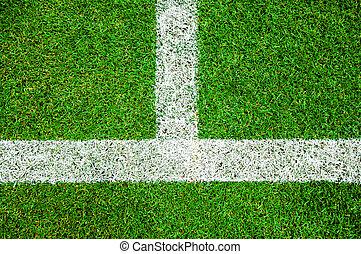 campo, blanco, futbol, verde, línea