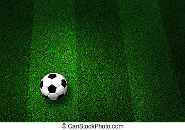 campo, bola futebol