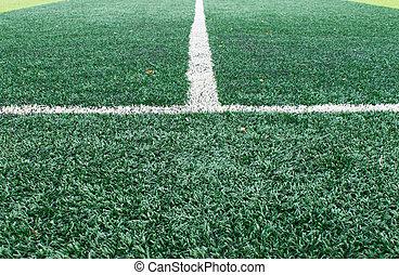 campo, branca, sideline, futebol