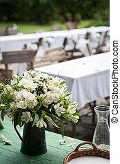 campo, buquet, close-up, reception:, casório