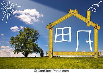 campo, casa, ecologic
