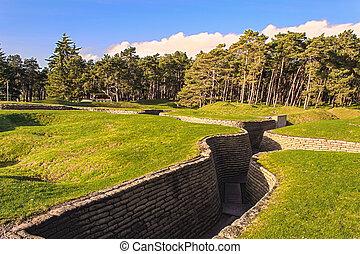 campo de batalla,  vimy, caballete,  trenches, francia