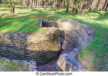 campo de batalla,  vimy,  trenches, francia