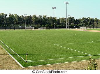 campo del fútbol, sobre