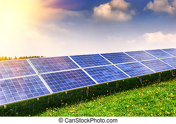campo, energia, solar