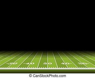 campo, fútbol americano, plano de fondo, ilustración