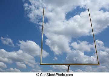 campo, fútbol americano, postes, meta