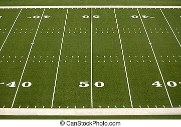 campo, fútbol americano, vacío