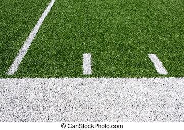 campo, football americano, iarda, linee