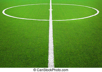 campo, football calcio, centro, o