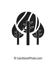 campo, foresta albero, icona
