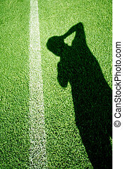 campo, fotografia, futebol, sombra