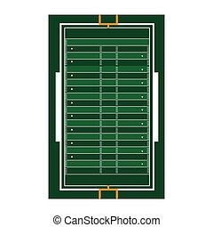 campo, futebol americano, isolado, ícone