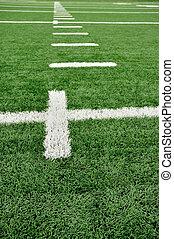 campo, futebol americano, resíduo, marcas