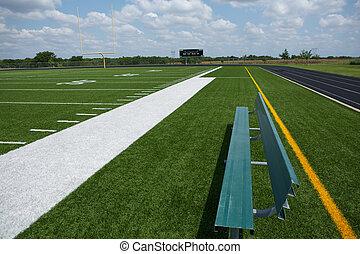 campo, futebol, banco