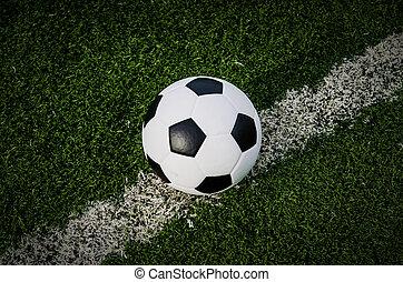 campo, futebol, capim, verde, futebol