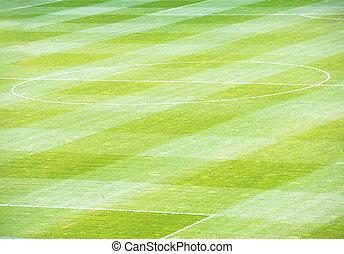 campo, futebol, futebol americano verde