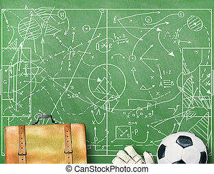 campo, futebol, markings