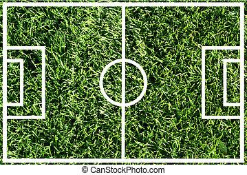campo, futebol, ou, futebol