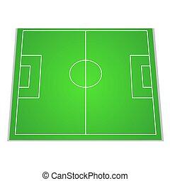 campo futebol, topo, vista., vetorial, ilustração, para, seu, design.