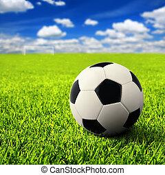 campo, futebol, vazio