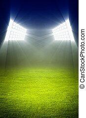 campo, futebol, verde