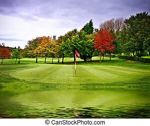 campo, golfe